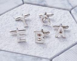 Alphabet Cufflinks in Silver