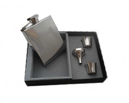Q-bic Hip Flask Presentation Set