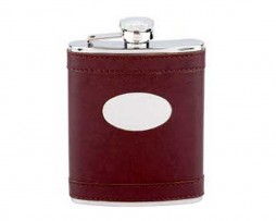 6oz Leather Covered Hip Flask