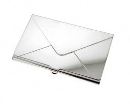 Sterling Silver Envelope Business Card Holder