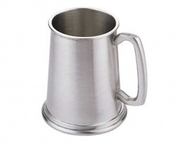 Satin Finish One Pint Pewter Tankard
