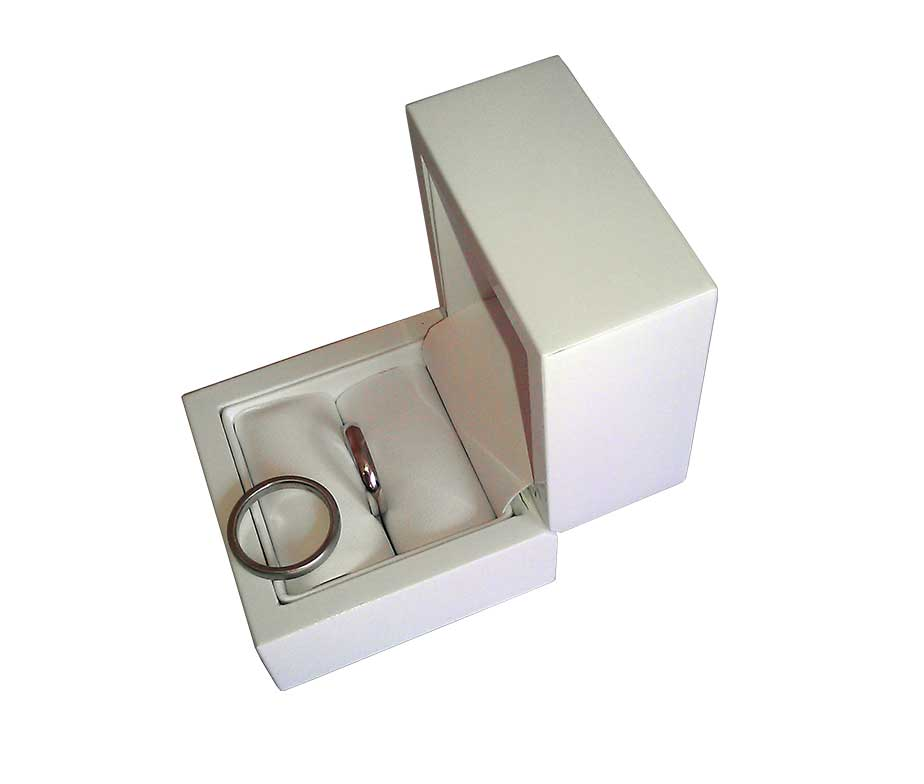 white flip top single wedding ring box the gifts