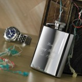 3oz Engraved Hip Flask & Personalised Hip Flask