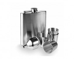 Hip Flask with Funnel and Cup