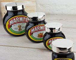 Marmite Lids in Silver