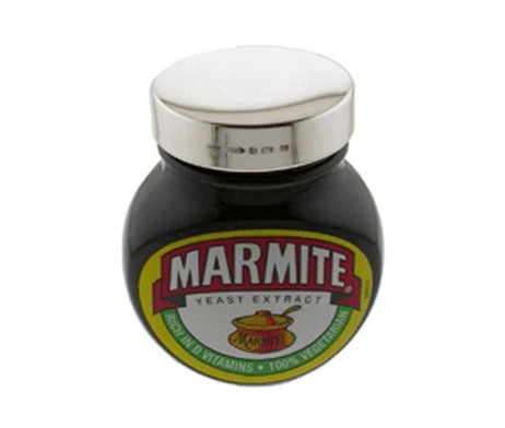 Personalised Sterling Silver Marmite Lid