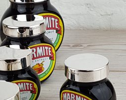 Personalised Sterling Silver Marmite Lids