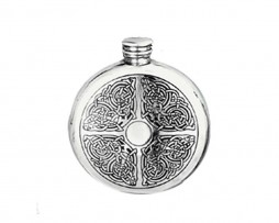 Round Celtic Hip Flask
