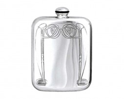 Art Deco Hip Flask