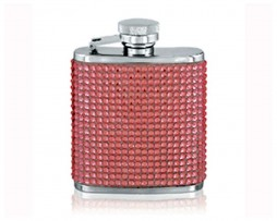 Pink Diamante Flask