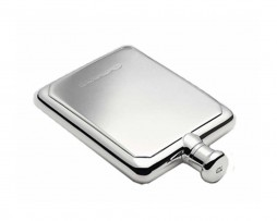 Larger Silver Rectangular Hip Flask