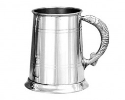 Pewter Tankard with Pike Handle