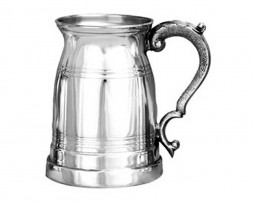 Personalised Old London Style Pewter Personalised Tankard Engraved With Personal Message