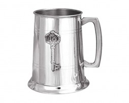 18th Birthday Key Pewter Engraved Tankard