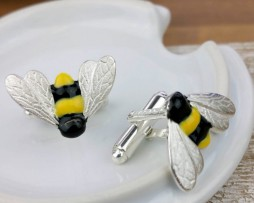 Silver Bumble Bee Cufflinks