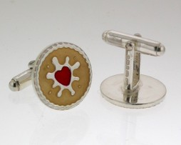 SILVER JAMMY DODGER CUFFLINKS