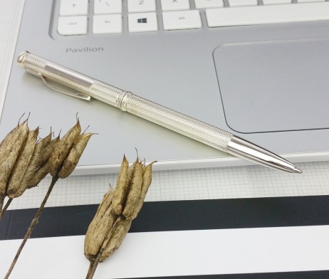 Pulse Silver Twist Ball Pen