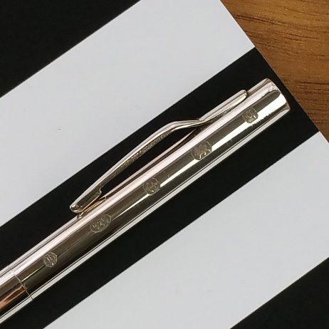 Joe Mason Silver Rollerball Pen
