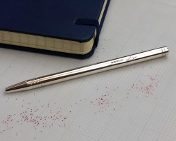 Stylish Silver Notebook Personalised LUXURY PEN in Hallmarked Sterling Silver with FREE ENGRAVING. Gift Wrapped Silver Personalised Pen. NEXT DAY UK DELIVERY!