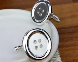 Sterling Silver Button Cufflinks with Presentation Box
