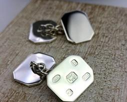 Personalised Silver Feature Hallmark Cufflinks