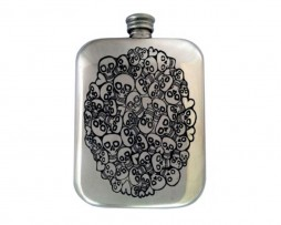 Handmade Skull Hip Flask with Free Engraving