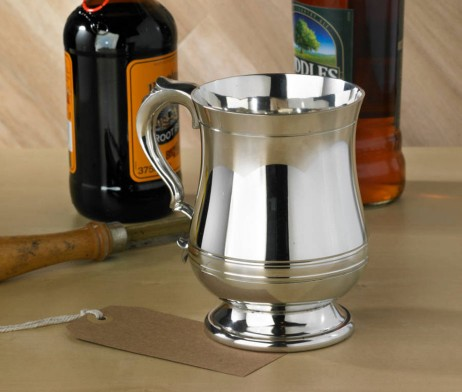 One Pint Straight Pewter Tankard