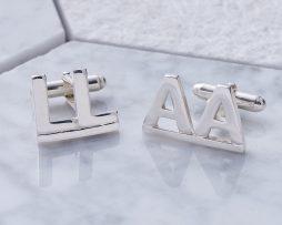 Silver Alphabet Cufflinks