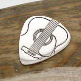 Personalised Silver Acoustic Guitar Plectrum