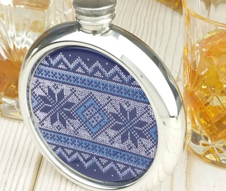 Fair Isle Christmas Hip Flask