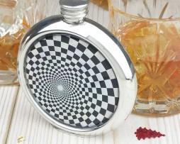 Shimmering Geometric Personalised Hip Flask