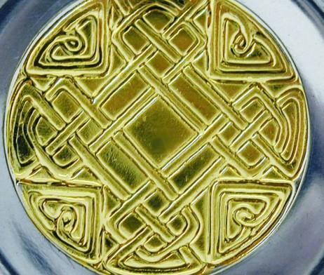 Contemporary Celtic Detail Lidded Tankard