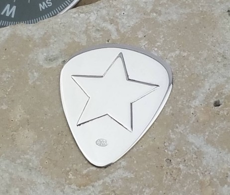 Personalised Silver Rock Star Plectrum - GH_Plect_Rockstar