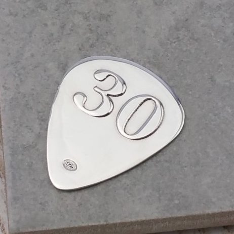 Engraved Silver 30th Birthday Plectrum - Gh_Plect30