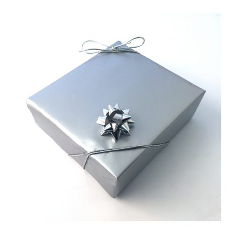 gift wrapping of personalised hip flask