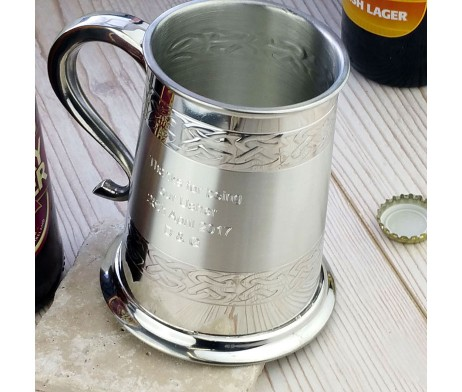 Wedding Tankard Personalised for Groom, Best Man, Father Of The Bride & Wedding Ushers. Can be personalised with engraved message to say thank you to the wedding party.