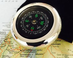 Personalised Silver Wanderlust Compass - bwy_M00101_01