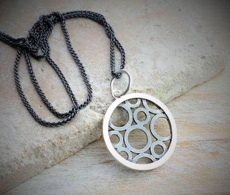 Circles Within A Circle Charm And Necklace - dl_kclfc08_oxsi-01