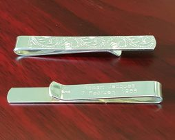 Sterling Silver Tie Side Personalised