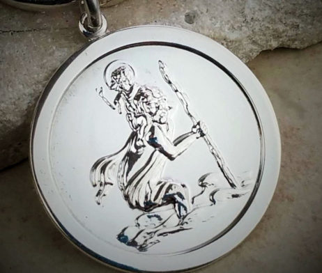 Personalised Saint Christopher Key Ring - nach_kr7