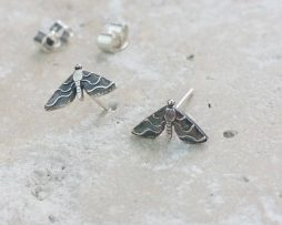Anna's Majestic Moth Silver Stud Earrings - dl_adv103