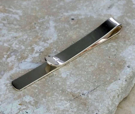 Personalised Sterling Silver Tie Slide With Decoration - dl_sa6lfe_tieslid