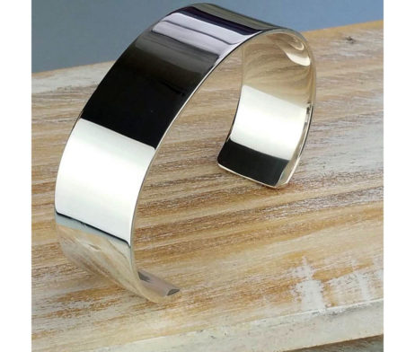 Ladies' Silver Roman Servus Cuff Bracelet - fgh_22143mm