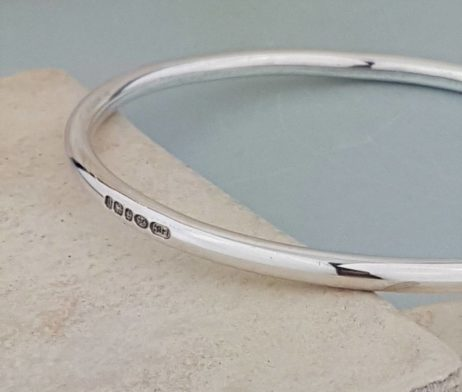The Moment In Time Silver Bangle