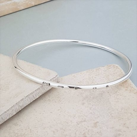 The Personalised Sterling Silver Bangle