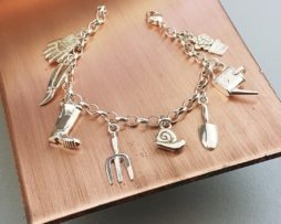 Silver Gardening Enthusiast Charm Bracelet