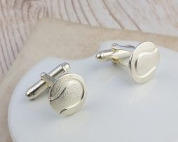 Silver Tennis Ball Cufflinks