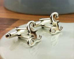 Sterling Silver Pound Sign Cufflinks