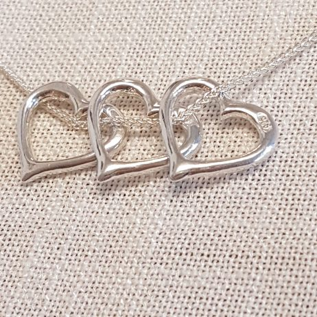 Valentine Silver Pendant and Necklace