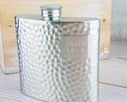 Personalised Hip Flask With Iridescent Sateen Finish